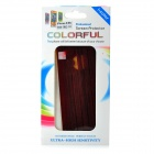 Protective Wood Grain Style Full Body Sticker Set for IPHONE 5 / 5S - Dark Red