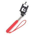 "1/4"" Camera Selfie Rod + Cell Phone Holder Clip Set - Red + Silver"