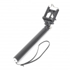 "1/4"" Camera / GoPro / SJ4000 Selfie Rod + Cell Phone Holder Set - Black + Silver"