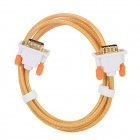 C.Y.K HD 1080p VGA 3+6 Male to Male Cable for Projector / Monitor - Yellow + White
