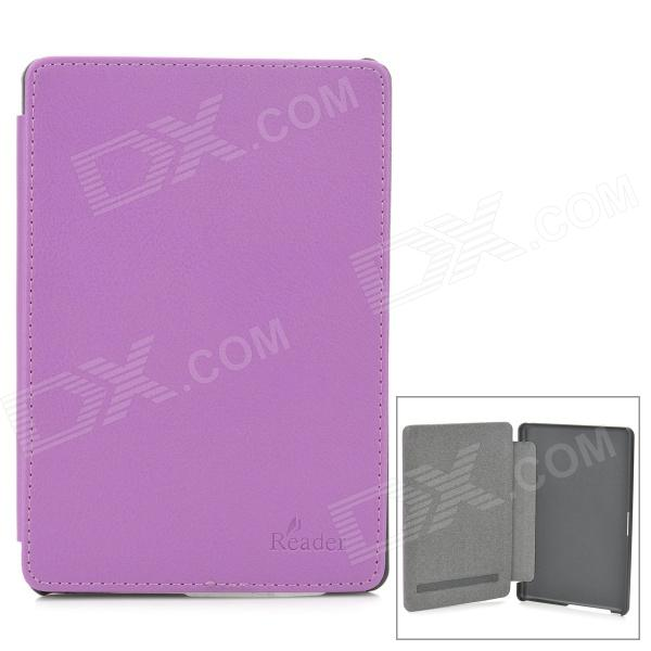 Protective PU Leather Case Cover for Sony PRS T3 eBook Reader - Purple + Black sony reader pocket edition prs 300 киев