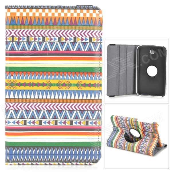 Housse en cuir Fashion Style nationale rotatif PU pour Samsung Galaxy Tab 7.0 3 T210 - multicolore