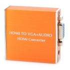 HDMI to VGA + Optical MHL to VGA + SPDIF Audio Converter Supports 5.1-Channel 1080P - Orange