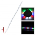 DIY 3W 30lm Car 10-SMD 3528 LED Colorful Light Car / Motorcycle Decoration Strip (12V)