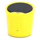 BT816 Portable Bluetooth v3.0 Stereo Speaker w/ Microphone / Hands-Free - Yellow