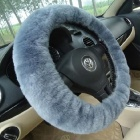 JinFeng 38-2 Car Wool Cashmere Steering Wheel Cover - Blue Grey