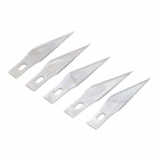 11# Carbon Steel Engraved Cutter Blades - Silver (5PCS)