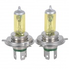 H4 100W 12V 1250lm Yellow Light Car Xeon Bulb (2 PCS)