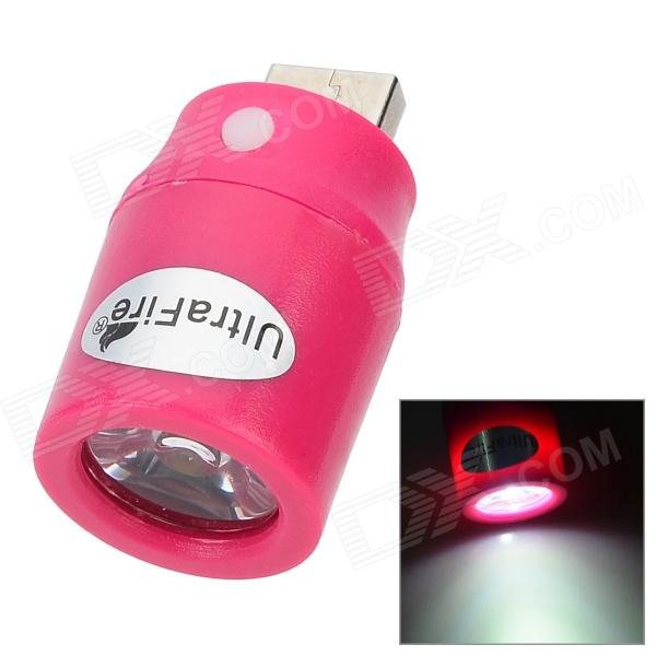 UItraFire 1W USB LED White Light Lamp - Deep Pink