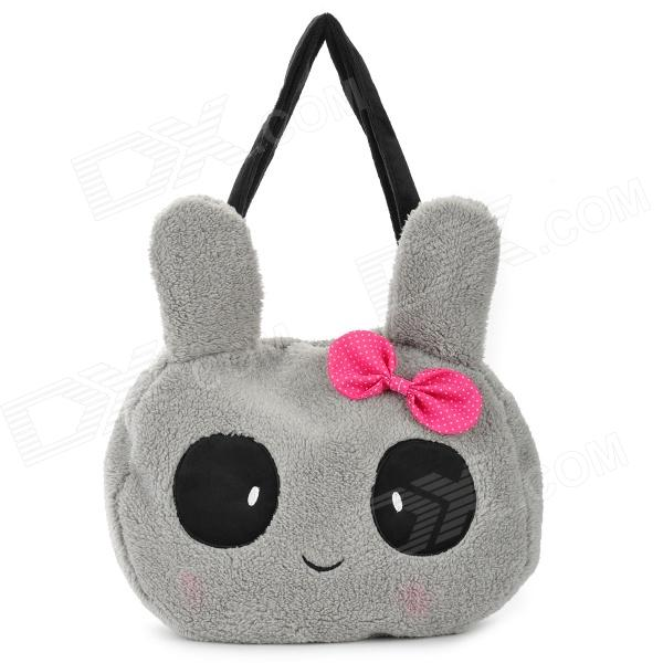 Cute Cartoon Rabbit Style Casual Flush Single Shoulder Bag for Women - Grey