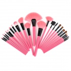 Professional Cosmetic Makeup Brushes Set - Pink + Black + Multicolored (24 PCS)