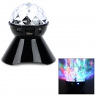 A18 360 Degree Rotatable Speaker w/ 6-LED RGB Light / TF / FM - Black