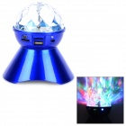 A18 360 Degree Rotatable Speaker w/ 6-LED RGB Light / TF / FM - Blue
