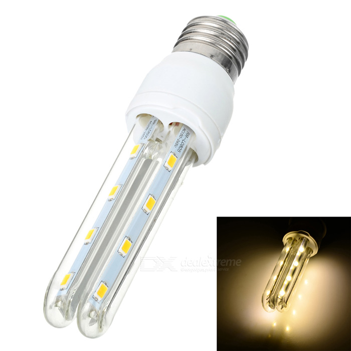E27-2U E27 8W 500lm 3000K 16 SMD 5730 LED Warm White Light Bulb - White + Yellow (AC 100~265V) cxhexin e27cx24 e27 7w 3000k 500lm 24 5630 smd led warm white light white ac 85 265v