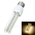 E27-2U E27 8W 500lm 3000K 16 SMD 5730 LED Warm White Light Bulb - White + Yellow (AC 85~265V)
