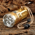 UItraFire 6XT6 6 x CREE XM-L T6 1500lm 3-Mode White Flashlight - Golden (4 x 18650)