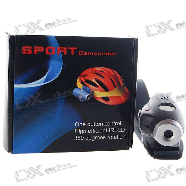 300KP Helmet Mount Sport Mini Digital Video Camcorder (SD Slot/2*AAA)