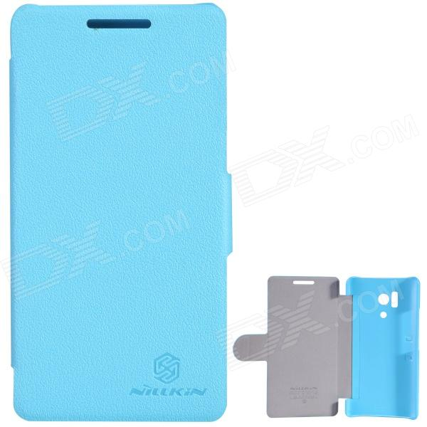 NILLKIN Fresh Series Beskyttende PC + PU Leather Case Cover for Huawei Honor 3 - Blå