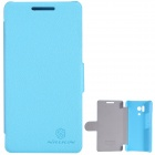 NILLKIN Fresh Series Protective PC + PU Leather Case Cover for HUAWEI Honor 3 - Blue