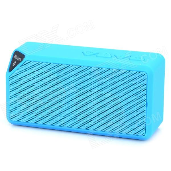 Portable Multi-Funcion Bluetooth v2.1 Speaker w/ FM / TF - Blue