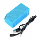 Portable Multi-Function Bluetooth V2.1 Speaker w/ FM / TF - Blue