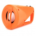 Outdoor Quick Release Buckle Style Portable Speaker w/ TF / FM - Orange
