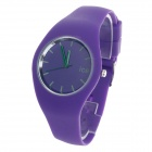ICE 10ATM Fashionable Rubber Band Women's Quartz Wrist Watch - Purple (1 x LR626)