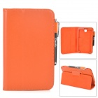 Protective PU Leather Case w/ Aluminium Alloy Stylus for 7 Samsung Galaxy Tab3 7.0 T210 - Orange