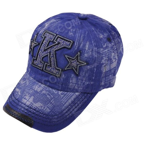 2013 New Style Embroidery Baseball Cap - Blue