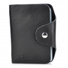 Picvadee 1616 Durable Genuine Leather Card Bag Case - Black