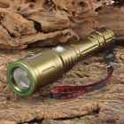 SLH SLH-H566 Cree XP-E R5 220lm 3-Mode White Zooming Flashlight - Brown Yellow (1 x 18650)