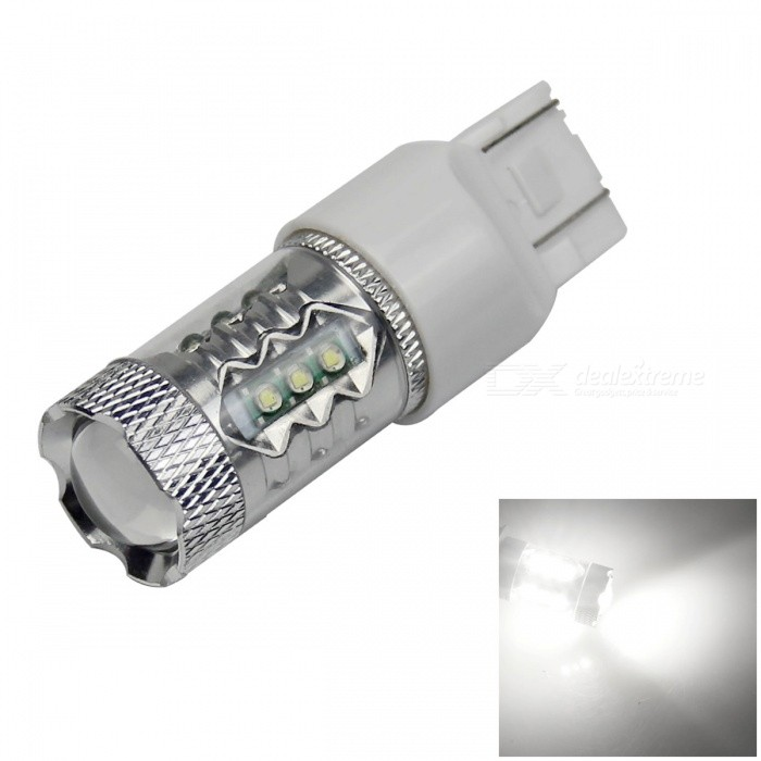 7443 / 7440 / T20 80W 680lm 16-LED White Car Steering / Reversing / Brake Light - (12~24V) - DXLED Wedget Bulbs<br>High brightness energy-saving easy to install; Lifetime: more than 50000 hours; Replaceable model: T20 21W 5W 7440 7443 ECE W3X16Q W3X16D W21W W21-5W. The power count by theoretical power of LED. Because we add the resistance to protect the LED. So the actual output power is less than of the theoretical power.<br>
