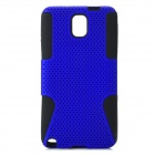 Mesh Style Protective Plastic + TPU Back Case for Samsung Galaxy Note 3 N9000 - Purple + Black