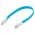 S-What Micro USB Charging Cable for Samsung + More - White+Blue (20cm)