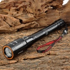 SLH SLH-H703 Cree XP-E R5 130lm 3-Mode White Zooming Flashlight - Black (1 x 18650 Battery Pack)
