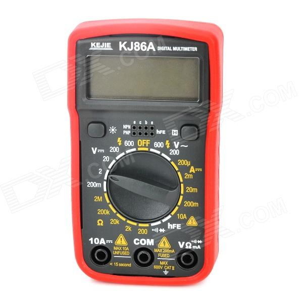 "KJ KJ-86A 2"" LCD Digital Multimeter - Black + Red"