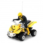 WLtoys 3030 Rechargeable Remote Control 4-CH Stunt Motorcycle - Yellow