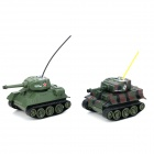 Happy Cow 777-213 4-CH Radio Remote Control Tanks - Camouflage + Green (2 PCS)