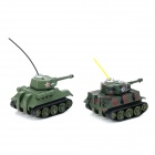 Happy Cow 777-215 4-CH Radio Remote Control Tanks - Camouflage + Green