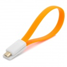 S-What Micro USB Charging / Data Cable for Xiaomi / Samsung + More - Orange + White (20cm)