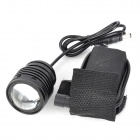 E2XQ LED 800lm 3-Mode blanche zoom phare avant - noir (4 x 18650)