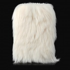 Stylish Plastic + Fur Case for Samsung Galaxy S4 i9500 - Beige