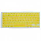J-01 Ultra-thin TPU Keyboard Protector for Apple Macbook 13'' / 15'' / 17'' - Yellow