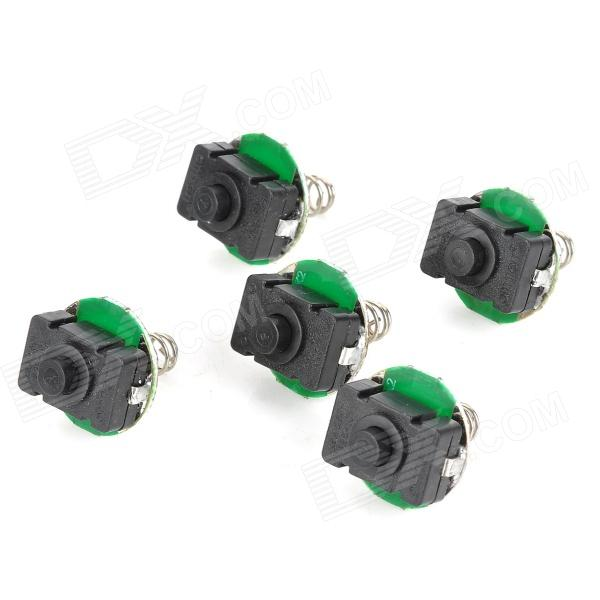 Replacement 20mm Flashlight Tailcap Switches for UltraFire C8 / X8 - Black + Silver