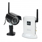 MEIEGO 451+703 Water Resistant Wireless Security Camera Kit w/ 24-IR LED - Black