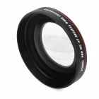 ZOMEI 49mm 0.45X Super Thin Wide Angle Lens for 49mm Camera + DV - Black