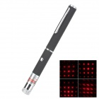 LSON 6D Adjustable 5mW 650nm Red Laser Pointer - Black (2 x AAA)