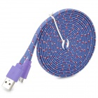 Micro USB Woven Mesh Charging Data Cable for Sony L39h / Xperia Z1 + More - Purple (300cm)