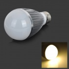 Fengyangdengshi 007 E27 7W 240lm 3000K 7-LED Warm White Light Bulb - Silver + White (12V)