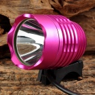 LetterFire MT-08 USB Powered LED 600lm 3-Mode White Cold White Bike Light - Deep Pink